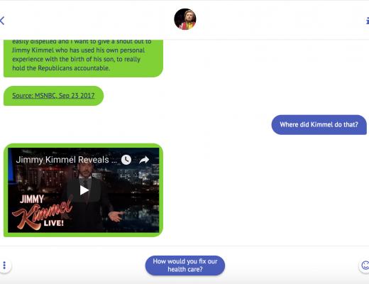 Voorbeeld van een chat met InterviewJS
